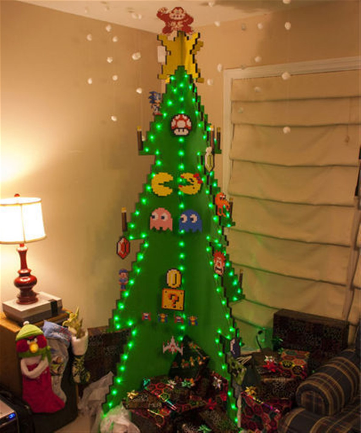 Árbol navideño de Pacman