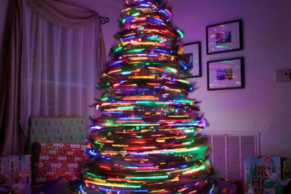 Árbol de Navidad de luz barrida