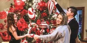 Abren las puertas de su hogar a la Navidad