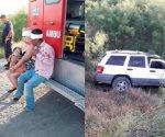 Sufre familia volcadura en Nuevo Laredo