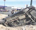 Accidente tras exceso de velocidad