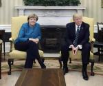 Trump recibe a Merkel