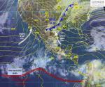 Generará frente frío 48 fuertes lluvias con actividad eléctrica, posible caída de granizo y formación de tornados