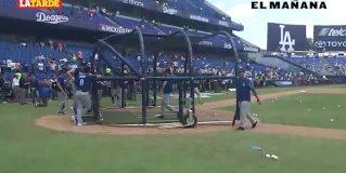 Última práctica de bateo de los Dodgers en México