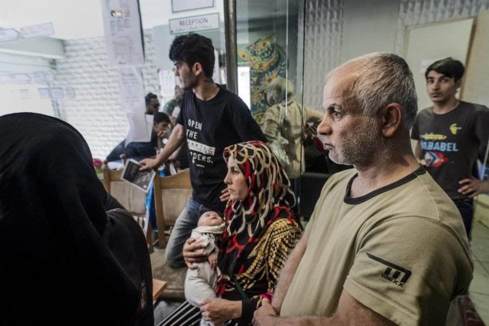 El Victoria Social Center de Atenas es otro de los centros que da cobertura a los refugiados sin recursos. Desde comidas hasta clases de boxeo. ANGEL LOPEZ SOTO