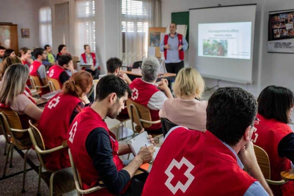 Reunión de las distintas entidades de Cruz Roja que operan en Grecia para atender y asistir a los miles de refugiados que viven en el país. ANGEL LOPEZ SOTO
