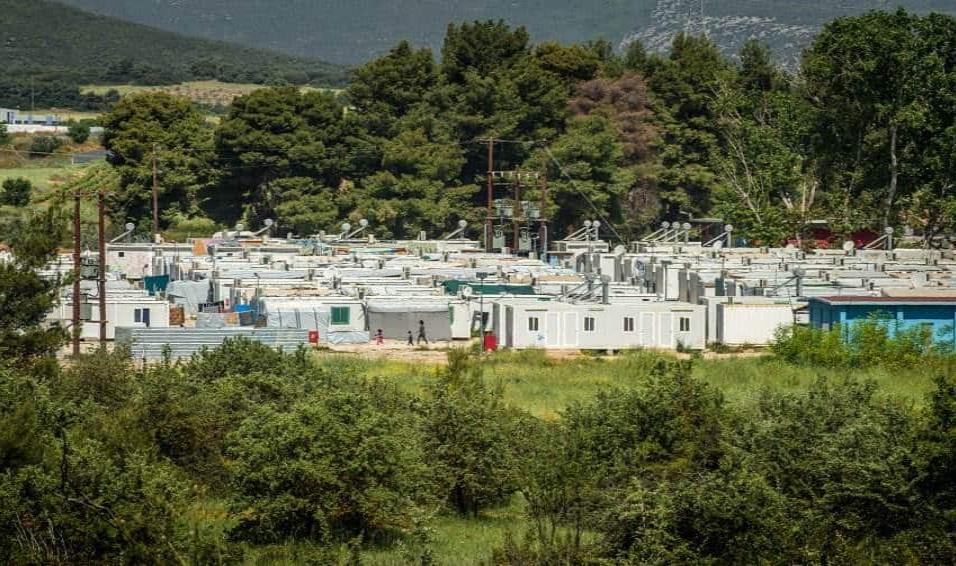 Vista del campo de refugiados de Ritsona, a las afueras de Atenas. ANGEL LOPEZ SOTO