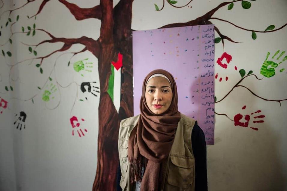 Amani Al Masri es la manager del Centro Jafra, uno de los centros de ayuda al refugiado que existen en Atenas. ANGEL LOPEZ SOTO
