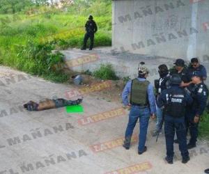 Hallan cadáver con narcomensaje en el Ejido El Porvenir