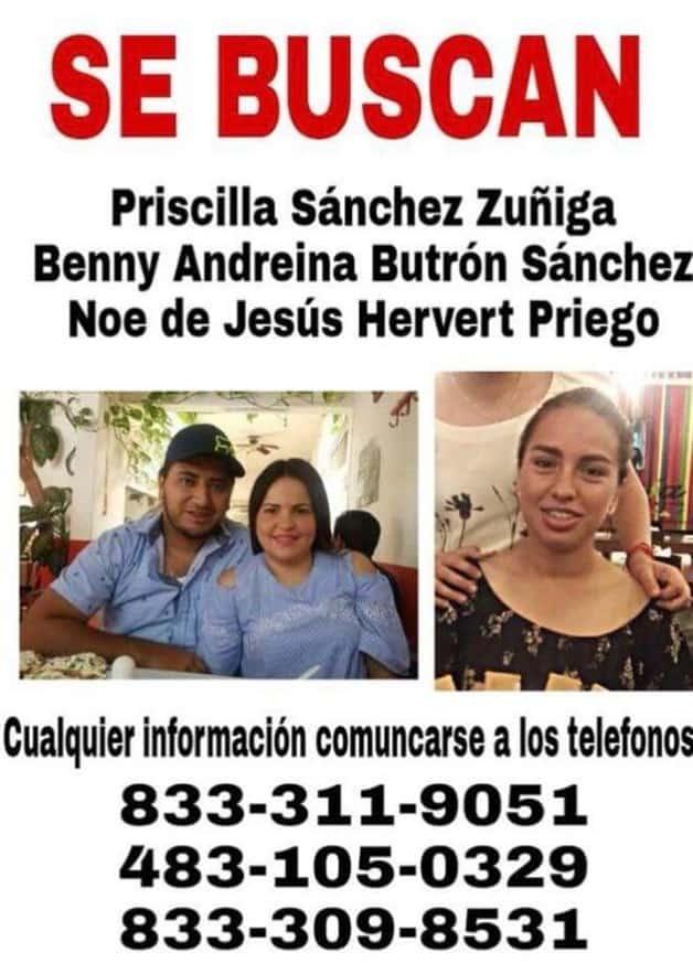 TAMPICO | Reportan familiares desaparición de tres personas