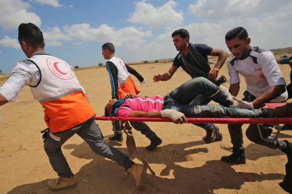 Desde que comenzó dicha marcha, el pasado 30 de marzo, las fuerzas israelíes han abatido al menos 45 palestinos, según fuentes sanitarias palestinas, mientras que del lado israelí no se han producido víctimas.  SAID KHATIB AFP