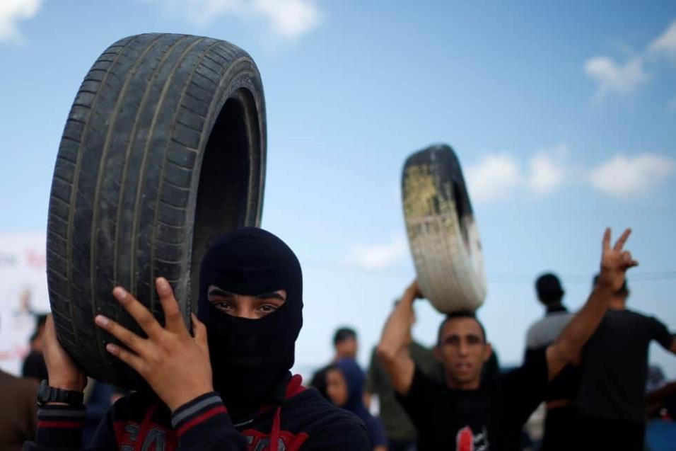 El Ejército israelí argumenta que sus tropas están defendiendo la frontera y disparando conforme con las normas de enfrentamiento. MOHAMMED SALEM REUTERS