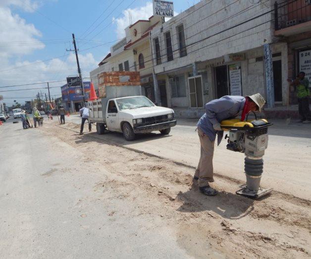 Reparan socavón de la Herón Ramírez