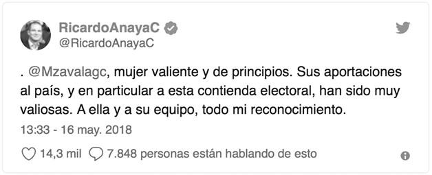 Meade y Anaya por votos de Margarita