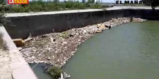 Taponan desechos represa en Anzaldúas
