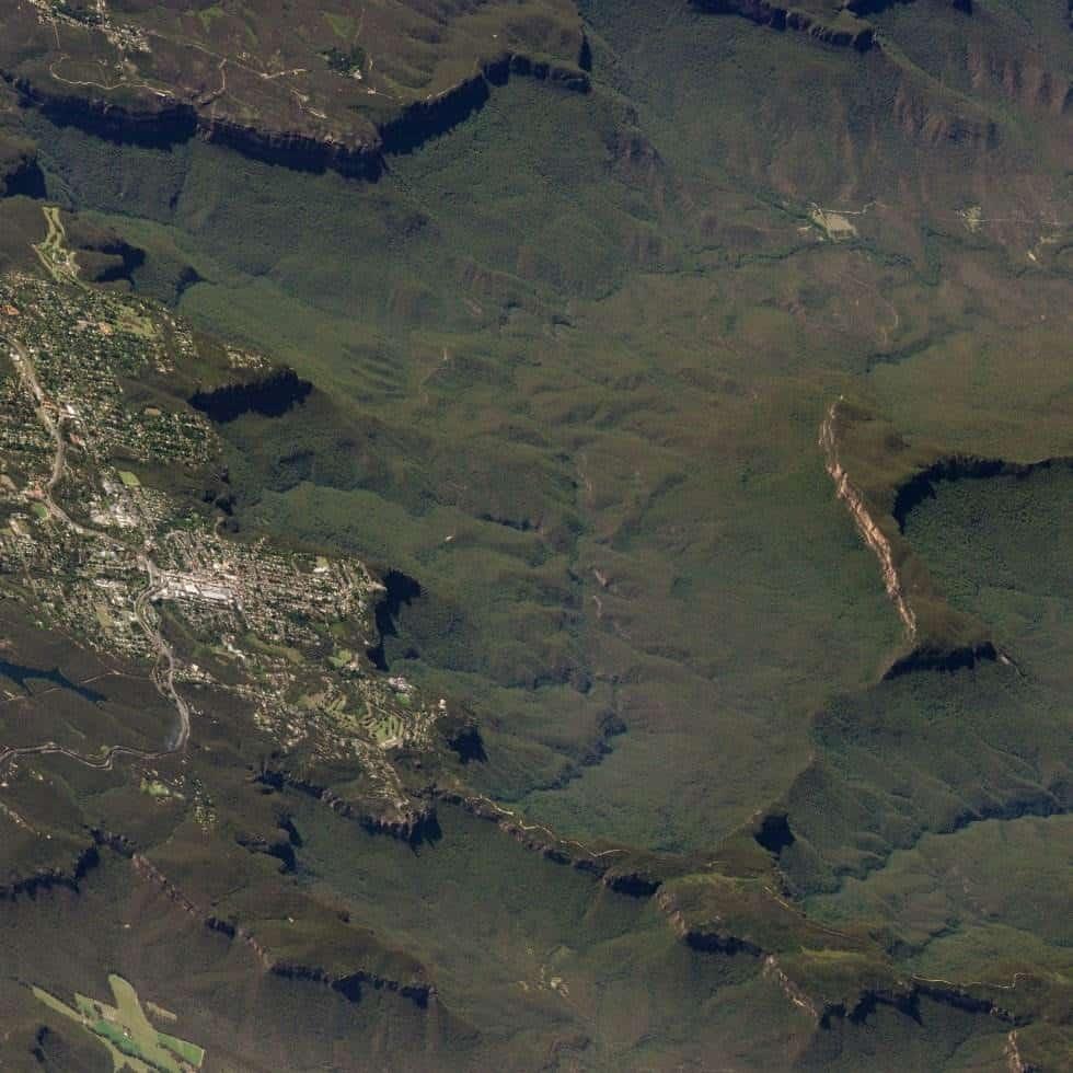 Montañas Azules (Australia)Esta zona natural australiana está muy cerca de Sidney. Es Patrimonio de la Humanidad desde el 2000. Foto tomada el 17 de marzo de 2018.