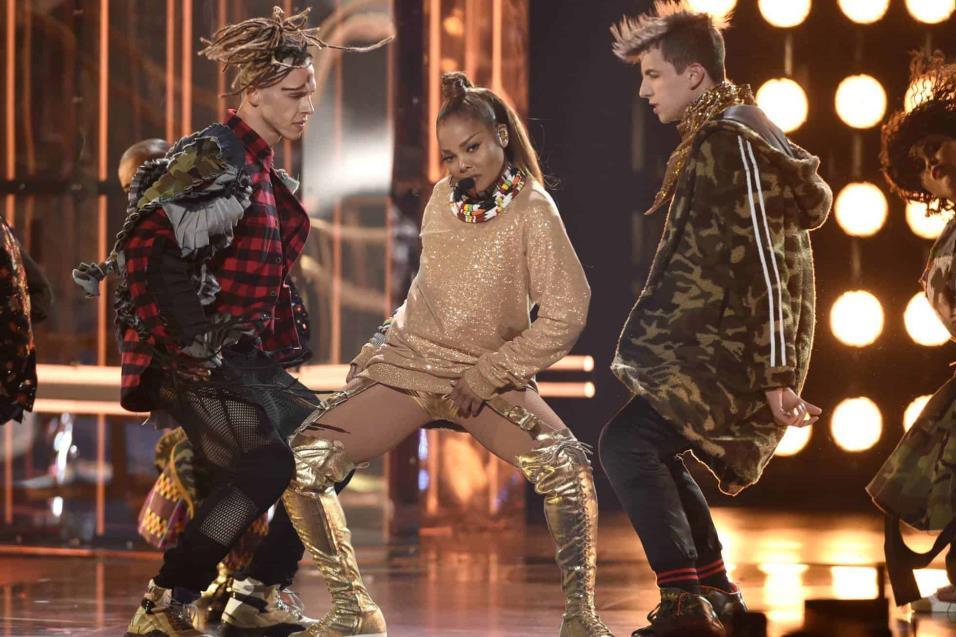 Janet Jackson durante su actuación en los Billboard. CHRIS PIZZELLO INVISION