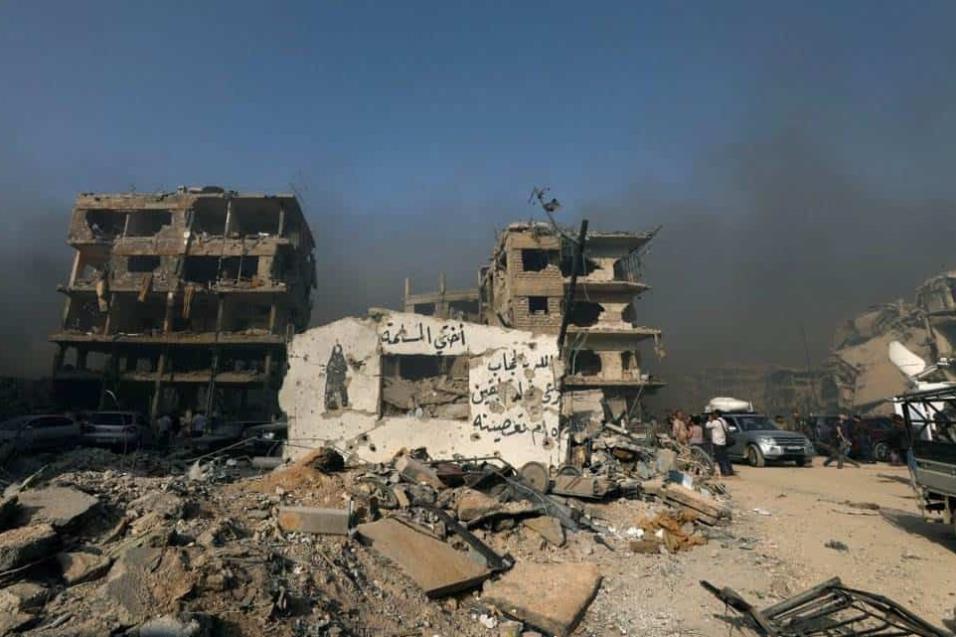 Vista de la ciudad de al-Hajar al-Aswad, a las afueras de Damasco, el 21 de mayo de 2018. OMAR SANADIKI REUTERS
