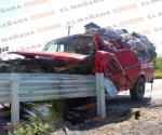 CAMARGO | Texano ´embarra´ camioneta en muro metálico