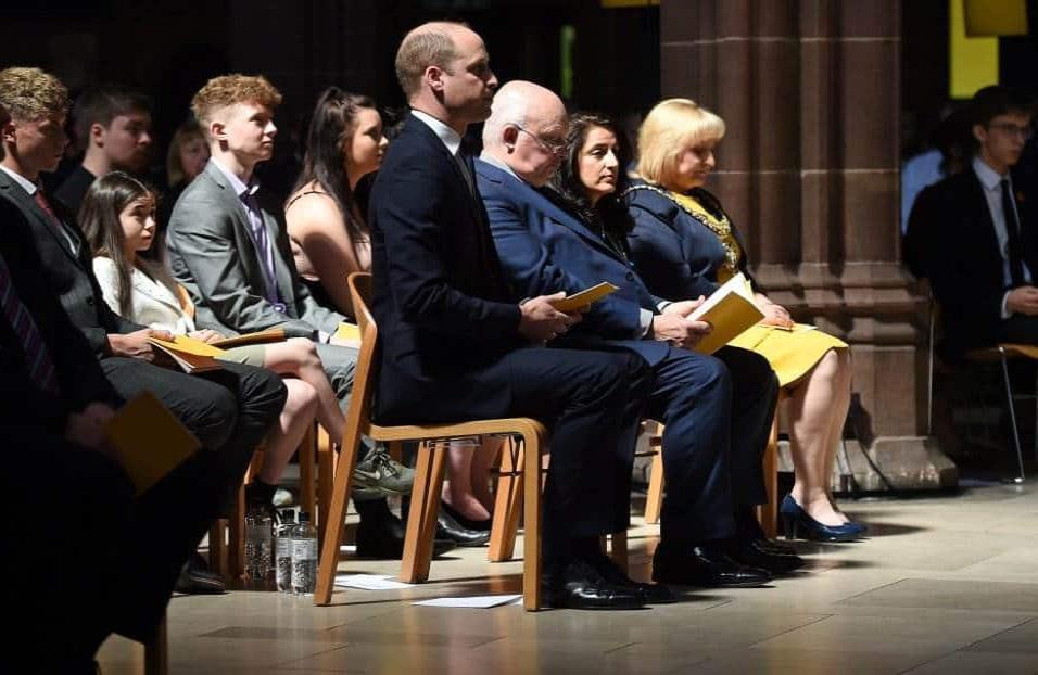 El príncipe Guillermo, Duque de Cambridge, atiende la conmemoración de las víctimas del atentado de Manchester en la catedral. WPA POOL GETTY IMAGES