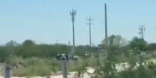 Enfrentamiento atrás del aeropuerto de Reynosa