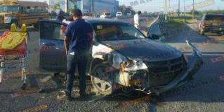 Da vuelta en U y lesiona a mujer, en Reynosa