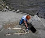 Encuentran el esqueleto de un hombre que no pudo huir de  la destrucción de Pompeya