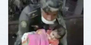 Personal de rescate salva a bebé tras erupción del Volcán de Fuego