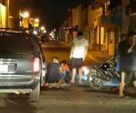 Resulta motociclista herido en un choque