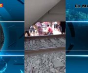 Embiste tren a camioneta; una mujer resulta lesionada