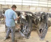 Destruyen 25 vehículos con blindaje artesanal