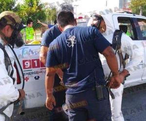 Fuga de amoniaco en fábrica de hielo en Reynosa: 2 intoxicados