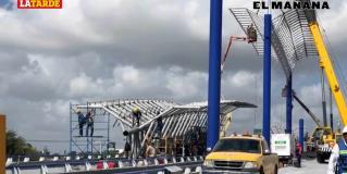 ´Aterrizan´ más palomas en puente sobre bulevar