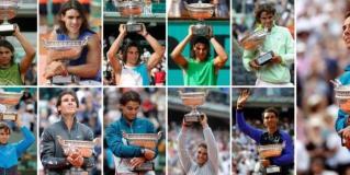 Rafael Nadal y sus once títulos en Roland Garros