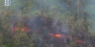 El volcán Kilauea lanza un nuevo río de roca fundida
