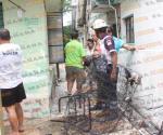 Se incendia edificio en zona centro de Tampico