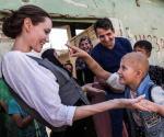 Pide Jolie no olvidarse de los iraquíes