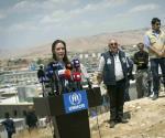 Visita Jolie a refugiados sirios en Irak