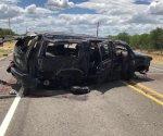 Mueren 5 ilegales al volcar vehículo. Eran perseguidos por la Border Patrol