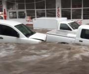 Tromba inunda Aguascalientes