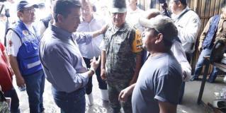 Encabeza Gobernador apoyo a damnificados