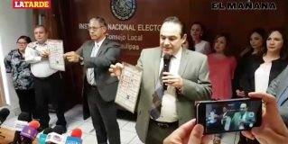 Prueban marcadores y tinta indeleble para jornada electoral del 1° de Julio