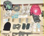 Cae banda de expolicías con armamento y droga