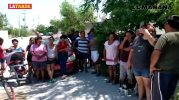 ¡Queremos agua!, vecinos de la colonia Puerta Sur