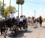 Exitosa cabalgata en fiesta religiosa