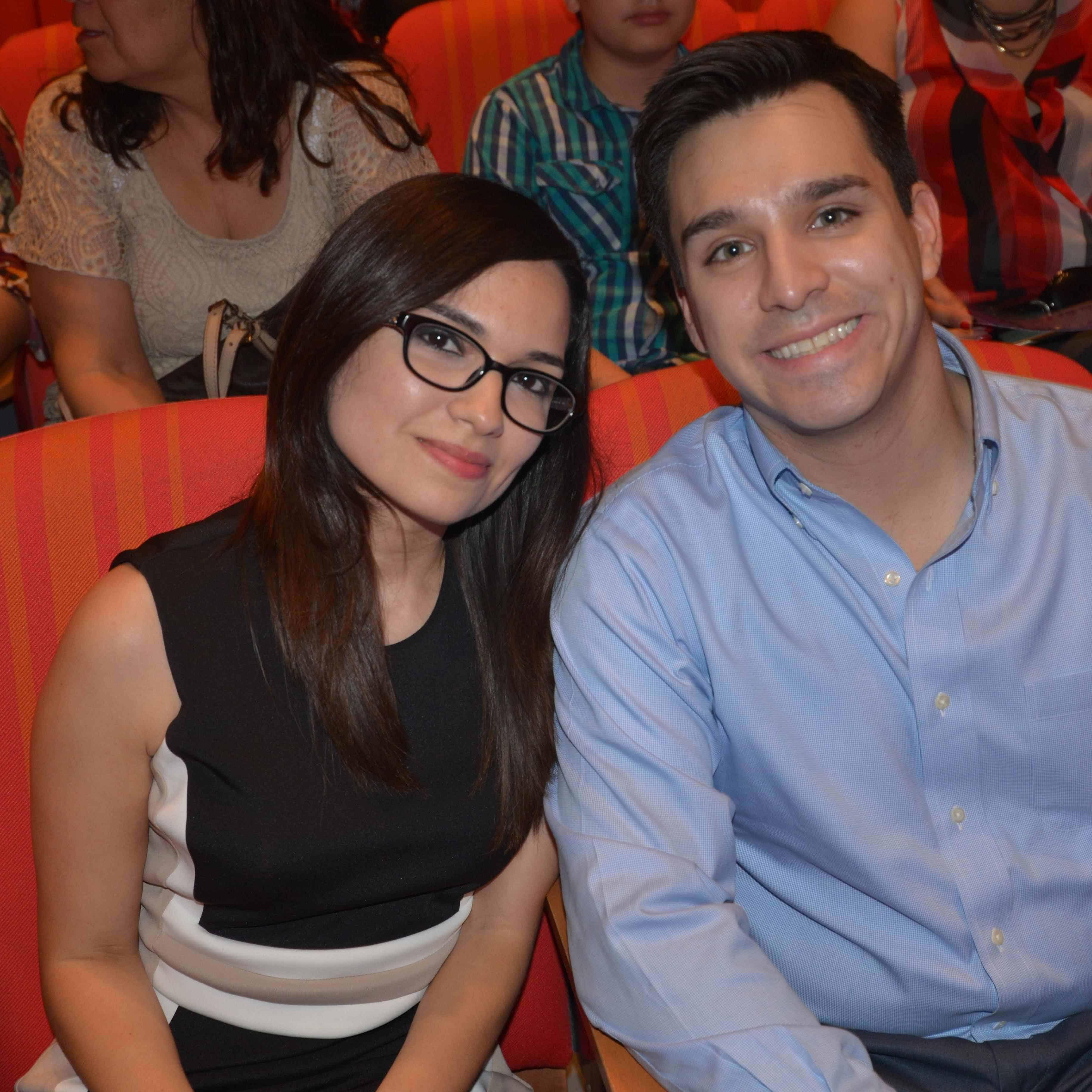 EN PAREJA. Edna Longoria y David Valdez