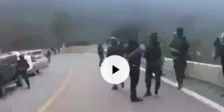 Muestran caravana con supuestos miembros del CJNG