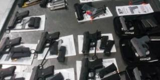 Interceptan armamento en puente Hidalgo