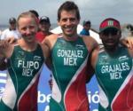Gana  México oro en triatlón de relevo mixto