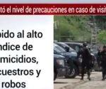 Por crimen, EU pide no viajar a Colima, Sinaloa, Guerrero, Tamaulipas y Michoacán